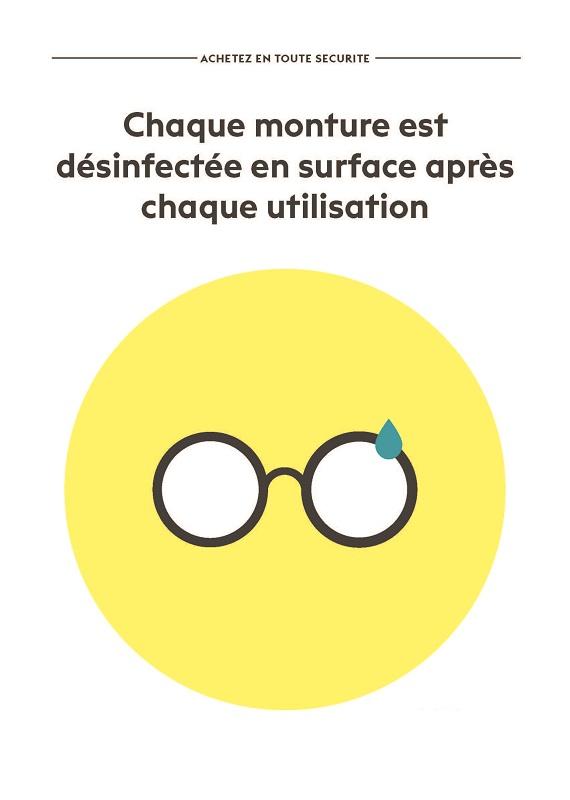 Désinfection des lunettes à chaque client